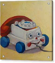 Vintage Pull Toy Series Phone Acrylic Print by Kelley Smith