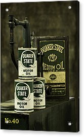 Vintage Quaker State Motor Oil Acrylic Print