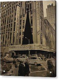 Vintage Radio City Music Hall Acrylic Print by Dan Sproul