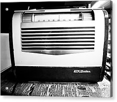 Vintage Radio Acrylic Print by Edward Fielding