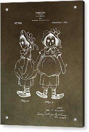 Vintage Raggedy Ann Patent Acrylic Print by Dan Sproul