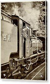 Vintage Railway Acrylic Print by Jane Rix