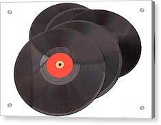 Vintage Records Acrylic Print by Patricia Hofmeester