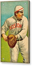 Vintage Red Sox Acrylic Print by Benjamin Yeager