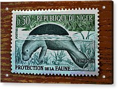 Vintage Republic Of Niger Stamp Acrylic Print
