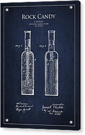 Vintage Rock Candy  Patent Drawing From 1881 Acrylic Print by Aged Pixel