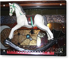 Vintage Rocking Horse Acrylic Print