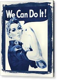 Vintage Rosie The Riveter Acrylic Print by Dan Sproul