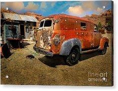 Vintage Rusty Chevy Panel Truck Acrylic Print