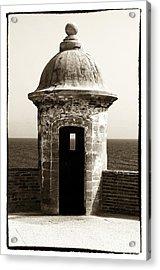 Vintage San Juan Guard Tower Acrylic Print by John Rizzuto