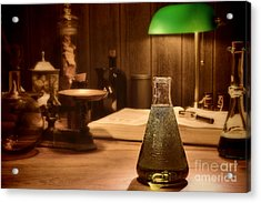 Vintage Science Laboratory Acrylic Print by Olivier Le Queinec