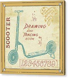 Vintage Scooter Acrylic Print by Jo Moulton