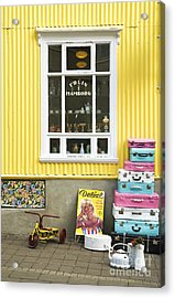Vintage Shop In Akureyri Iceland Acrylic Print