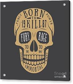 Vintage Skull Label, Emblem And Logo Acrylic Print