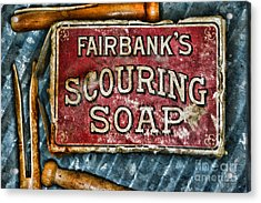 Vintage Soap Acrylic Print by Paul Ward
