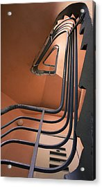Vintage Spiral Stairs Acrylic Print by Vlad Baciu