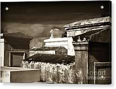Vintage St. Louis Cemetery Acrylic Print by John Rizzuto