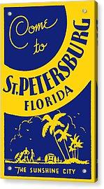 Vintage St. Petersburg Florida Poster Acrylic Print