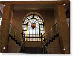 Vintage Stained Glass 1 Acrylic Print by Andrew Fare
