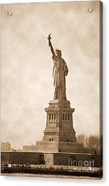 Vintage Statue Of Liberty Acrylic Print