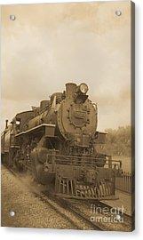 Vintage Steam Locomotive Acrylic Print by Edward Fielding