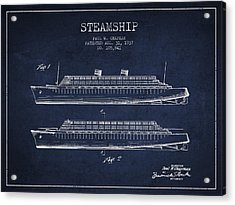 Vintage Steamship Patent From 1937 Acrylic Print by Aged Pixel