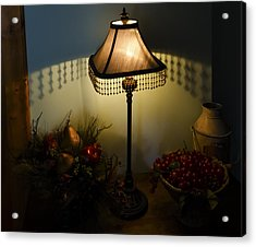 Vintage Still Life And Lamp Acrylic Print by Greg Reed