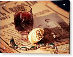 Vintage Still Life With Wine Acrylic Print