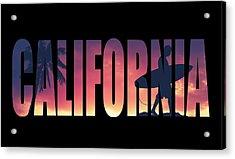 Vintage Style California Postcard Acrylic Print by Mr Doomits