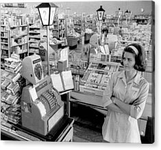 Vintage Supermarket Vintage #04 Fine Art Print Acrylic Print by Retro Images Archive