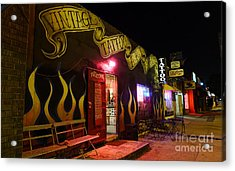 Vintage Tattoo Parlour Acrylic Print by Nina Prommer