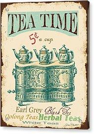 Vintage Tea Time Sign Acrylic Print