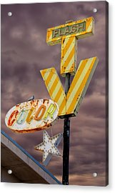 Vintage Television Sign Acrylic Print