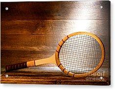 Vintage Tennis Racket Acrylic Print