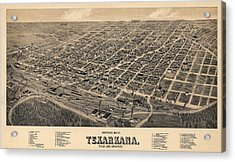 Vintage Texarkana Map Acrylic Print