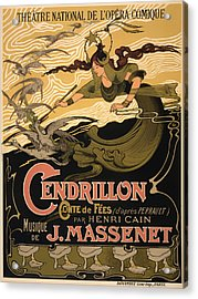 Vintage Theatre Poster - 1899 Acrylic Print by Mountain Dreams