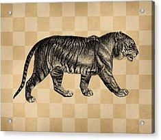 The Tiger Acrylic Print by Flo Karp