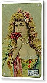 Vintage Tobacco Or Cigarette Card Acrylic Print by Susan Leggett