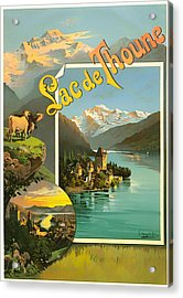 Vintage Tourism Poster 1890 Acrylic Print by Mountain Dreams