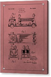Vintage Toy Fire Truck Patent Acrylic Print