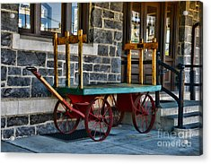 Vintage Train Baggage Wagon Acrylic Print by Paul Ward