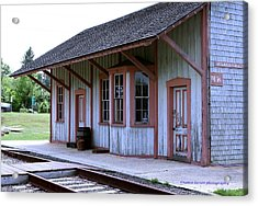 Vintage Train Station Acrylic Print
