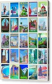 Vintage Travel - Italy Acrylic Print