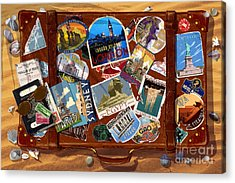 Vintage Travel Case Acrylic Print