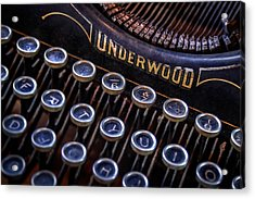 Vintage Typewriter 2 Acrylic Print by Scott Norris