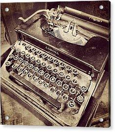 #vintage #typewriter #classic #desire Acrylic Print