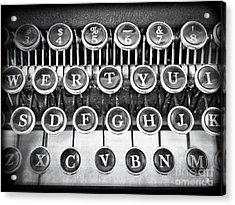 Vintage Typewriter Acrylic Print by Edward Fielding