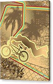 Vintage Urban Grunge Background Design Acrylic Print