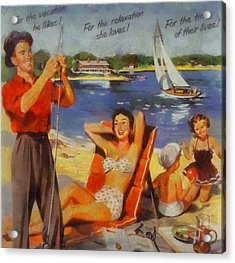Vintage Vacation Poster Acrylic Print