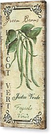 Vintage Vegetables 2 Acrylic Print by Debbie DeWitt